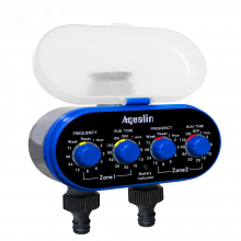 Ball Valve Electronic Automatic Watering Two Outlet Four Water Timer Garden Irrigation Controller Yard